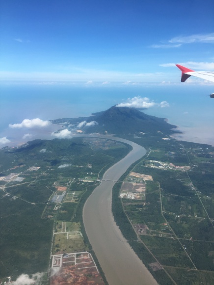 View of Kuching from the plane.