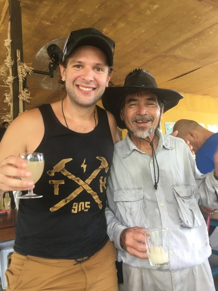 Drinking locally made tuok!