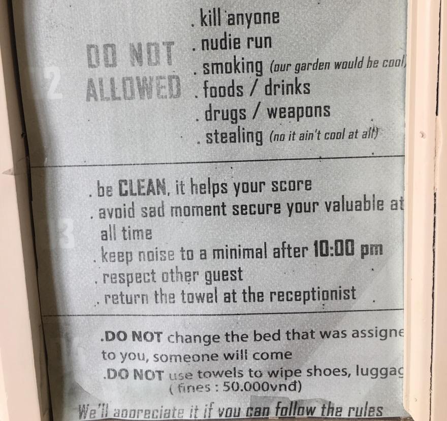 Hostel Sign 1
