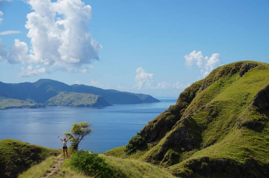 The view from the far side of Padar Island.